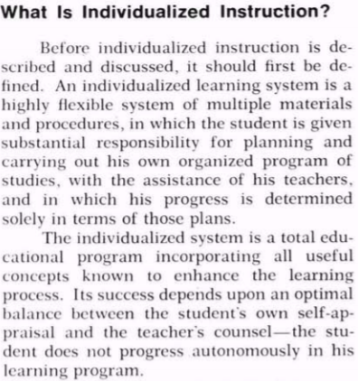individualized learning definition