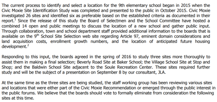 Brookline Removal of Schools